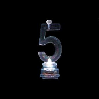 Candele e Numero 5 Led