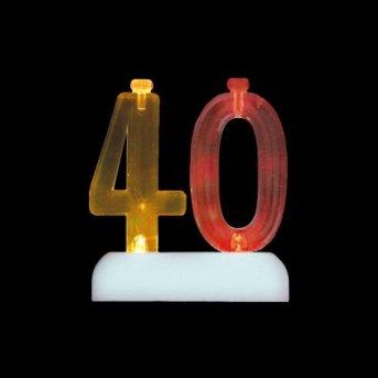 Candele e Numero 40 Led