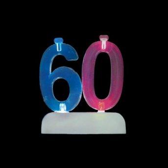 Candele e Numero 60 Led
