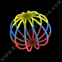 Sfere Fluo Tricolore (8 pz)